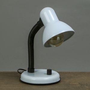 Лампа настольная Е27, светорегулятор (220В) белая 34х14х14   3723903