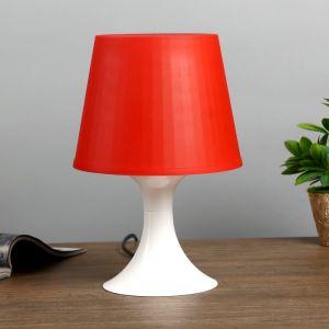 Настольная лампа 1340007 1хE14 15W бордовый d=19,5 высота 28см 4556508