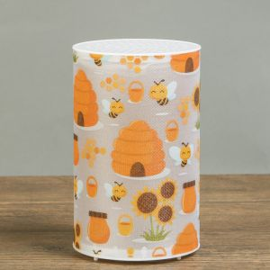 "Ночник пластик ""Медовые пчёлы"" от батареек CR2032х1 7,1х7,1х11,3 см   3746952"