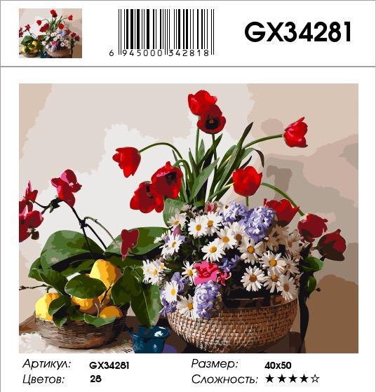 Картина по номерам на подрамнике GX34281