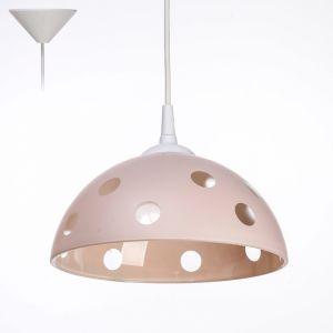 """Светильник Колпак """"Силви"""" 1 лампа E27 40Вт розовый  д.250 2492584"""