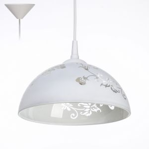 "Светильник Ладера ""Рочелл"" 1 лампа E27 40Вт белый  д.250   2492578"