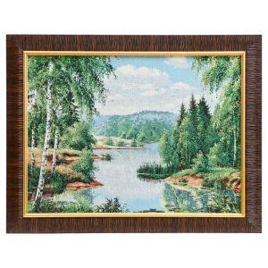 "Картина из гобелена ""Тихая речка"", 35х45 см"