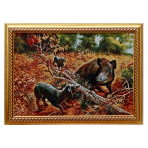 "Картина из гобелена ""Охота"" (44х64)"