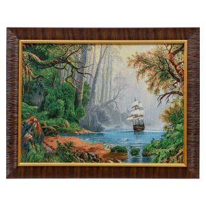 """F281-30x40 Картина из гобелена """"Кораблик в сказочном лесу"""" (35х45) 4889382"""