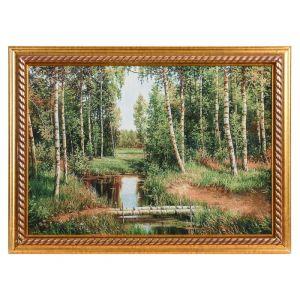 """Картина из гобелена """"Лесной уголок"""" (44х64)"""