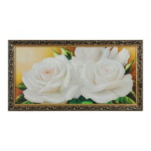 """Гобеленовая картина """"Белые розы"""" 45х85 см 4487476"""