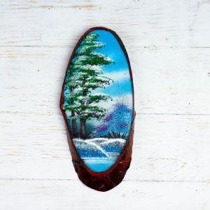 """Панно на спиле """"Зима"""", 27-31 см, каменная крошка, вертикальное 4022902"""