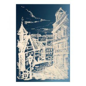 Зеркало декоративное «Улица», с лазерной гравировкой, 21?30 см   4301438