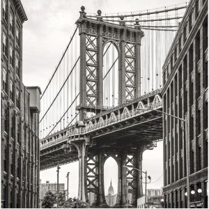"Картина на подрамнике ""Манхэттенский мост"" 30*30 см   4194708"
