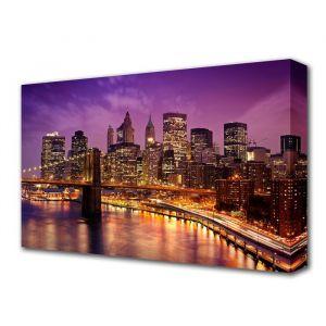 """Картина на холсте """"Вечерний Бруклинский мост"""" 60*100 см   3674930"""