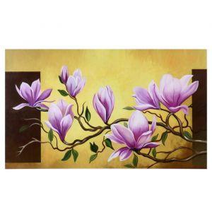 """Картина-холст на подрамнике """"Ветка с розовыми цветами"""" 60х100 см   4720944"""