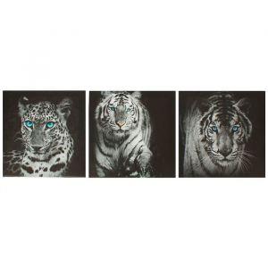 "Модульная картина на подрамнике ""Кошки"", 3 шт. — 28?28 см, 28?84 см"