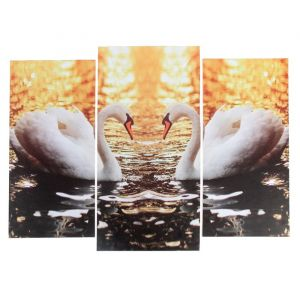 "Модульная картина ""Лебединое озеро""  (2-25х52; 1-30х60) 60х80 см   3981647"