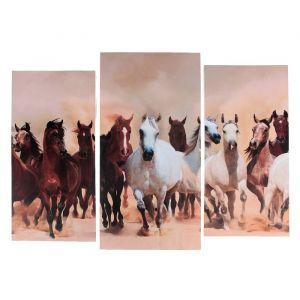 "Модульная картина ""Лошадиная сила""  (2-25х52; 1-30х60) 60х80 см   3981649"