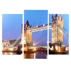 """Модульная картина """"Тауэрский мост"""" (2-25х50, 30х60 см) 60х80 см   4675799"""
