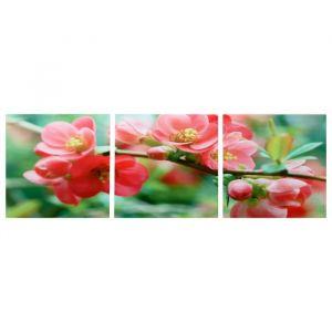 """Модульная картина """"Цветение магнолии"""" (3-35х35) 35х105 см 4983617"""