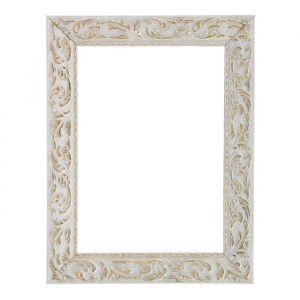 Рама для зеркал и картин из дерева, 18 х 24 х 4 см, цвет бело-золотой