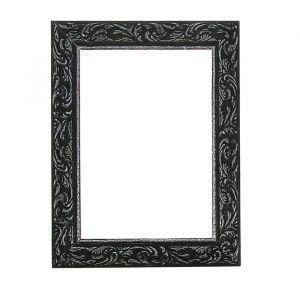Рама для зеркал и картин из дерева, 20 х 30 х 4 см, цвет чёрный с серебром