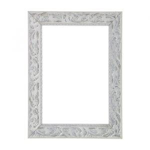 Рама для зеркал и картин из дерева, 30 х 40 х 4 см, цвет бело-серебристый
