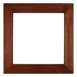 Рама для зеркал и картин дерево 40 х 40 х 7.5 см, липа, брошировка, вишня