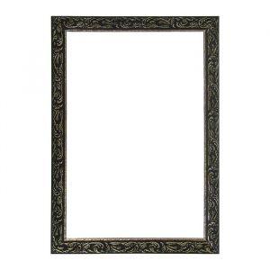 Рама для зеркал и картин из дерева, 40 х 60 х 4 см, цвет чёрный с золотом