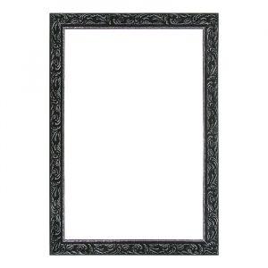 Рама для зеркал и картин из дерева, 40 х 60 х 4 см, цвет чёрный с серебром