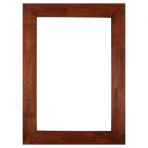 Рама для зеркал и картин дерево 40 х 60 х 7.5 см, липа, брошировка, вишня