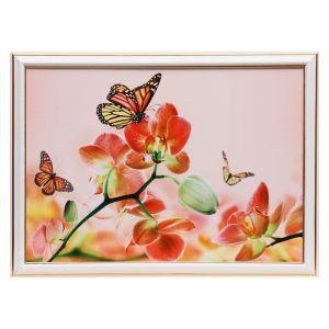 "Картина ""Бабочки на цветах"" 25х35 см (28х38см) 4832523"