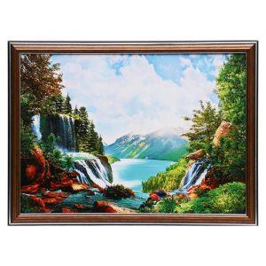 "Картина ""Горный водопад"" 25х35 см (28х38см)  4832461"