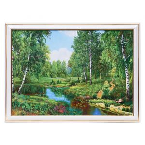 """Картина """"Лесная речушка"""" 25х35 см (28х38 см) 4832445"""