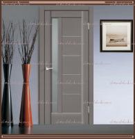 Межкомнатная дверь PREMIER 3 SoftTouch структурный Ясень грей, стекло - Мателюкс :
