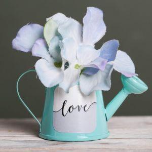 Металлическое кашпо для цветов Love, 6 ? 5 см