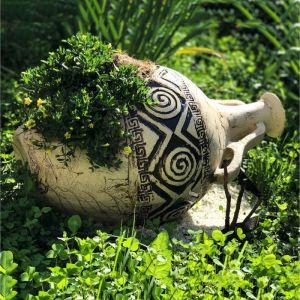 "Садовая фигура ""Сирена"", амфора, шамот, 64 х 33 см"