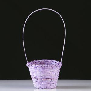 Корзина плетеная, бамбук, D14.5 см, сиреневый 4821946