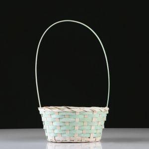 Корзина плетеная, бамбук, D20X15 H10 HH33 см, зеленый 4821950