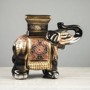 "Сувенир ""Слон"" чёрный, 26 см"
