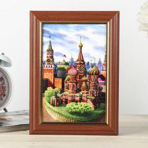 "Ключница ""Москва"" орех 15х21см 4154636"