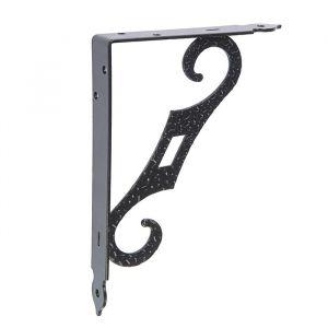 Кронштейн декоративный КД-200-145-S , цвет черный матовый 4916502