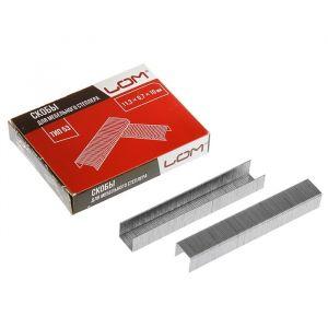 Скобы для степлера LOM, закалённые, тип 53, 11.3 х 0.7 х 10 мм, в упаковке 1000 шт. 2554401