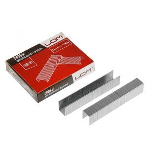 Скобы для степлера LOM, закалённые, тип 53, 11.3 х 0.7 х 14 мм, в упаковке 1000 шт. 2554403