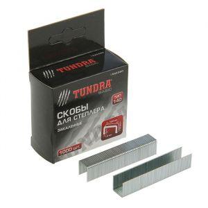 Скобы для степлера TUNDRA закалённые, тип 140, (10.6 х 1.2 мм), 12 мм (1000 шт.) 1526580
