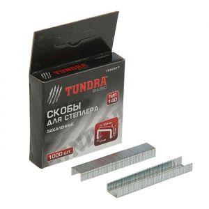 Скобы для степлера TUNDRA закалённые, тип 140, (10.6 х 1.2 мм), 6 мм (1000 шт.) 1526577