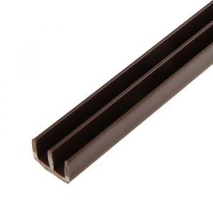 Профиль направляющий, Ш-образный, L=2 м, коричневый, 2 шт. 2132800