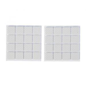 Накладка мебельная квадратная TUNDRA, размер 18 х 18 мм, 32 шт, полимерная, цвет белый 3609857