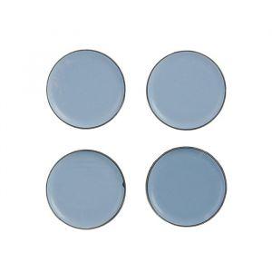 Накладка мебельная круглая TUNDRA, D=40 мм, 4 шт., полимерная, цвет серый 3609883