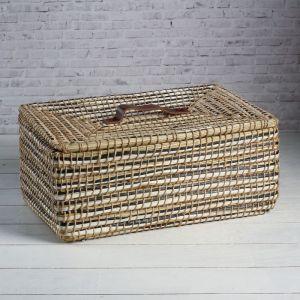 Корзина - короб для хранения вещей с крышкой, 41?27?17 см, тростник 4390032