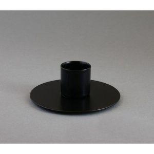 подсвечник круг черный муар   1595957