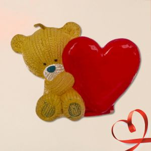 Свеча формовая «Мишка с сердцем», 5 см