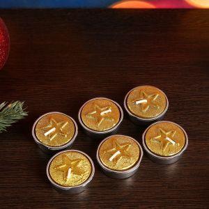 Новогодние свечи Звезды Золотые   4704275
